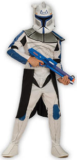 Clone Trooper Rex Costume Boys Fancy Dress Kids Child Star Wars Licensed
